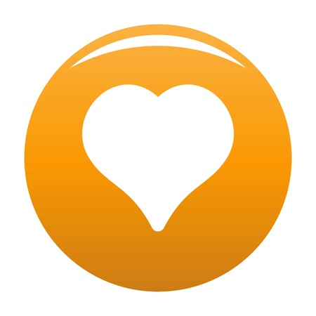 Magnanimous heart icon. Simple illustration of magnanimous heart vector icon for any design orange