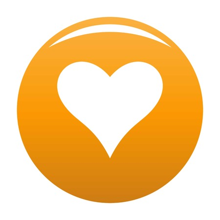 Affectionate heart icon. Simple illustration of affectionate heart vector icon for any design orange