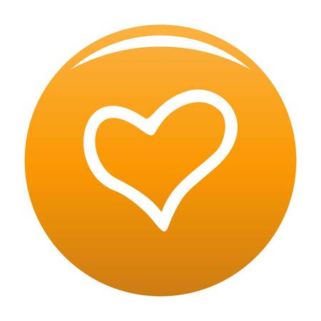 Faithful heart icon. Simple illustration of faithful heart vector icon for any design orange