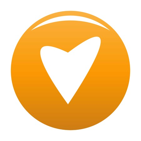 Gentle heart icon. Simple illustration of gentle heart vector icon for any design orange Illustration