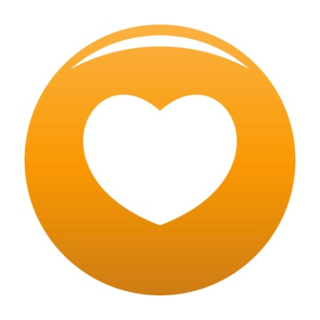 Sympathetic heart icon. Simple illustration of sympathetic heart vector icon for any design orange