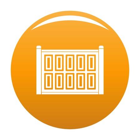 Concrete fence icon. Simple illustration of concrete fence vector icon for any design orange Illusztráció