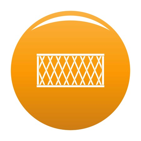 Fence icon. Simple illustration of fencevector icon for any design orange