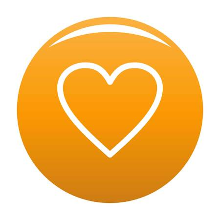 Ardent heart icon. Simple illustration of ardent heart vector icon for any design orange Imagens