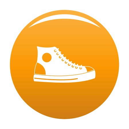 Men shoe icon. Simple illustration of men shoe vector icon for any any design orange
