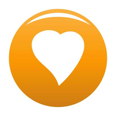 Black Heart icon. Simple illustration of black heart vector icon for any design orange