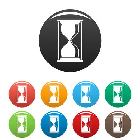 Hourglass icon. Simple illustration of hourglass vector icons set color isolated on white
