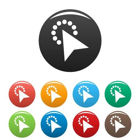 Cursor modern click icon. Simple illustration of cursor modern click vector icons set color isolated on white