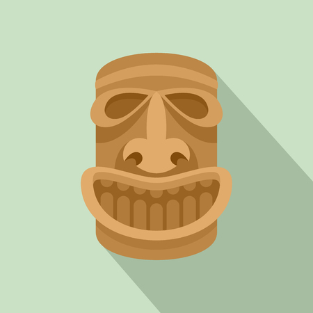 Hawaii wood idol icon. Flat illustration of hawaii wood idol vector icon for web design