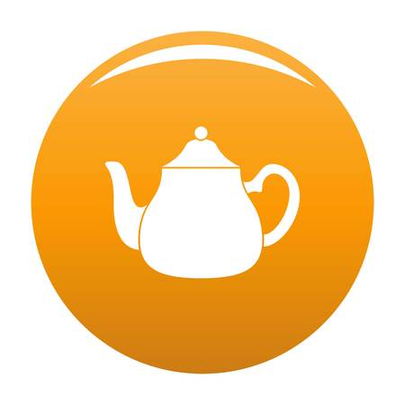 Big kettle icon. Simple illustration of big kettle vector icon for any design orange