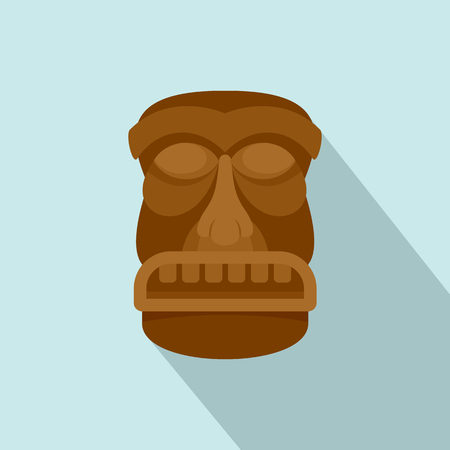 Hawaii idol icon. Flat illustration of hawaii idol vector icon for web design