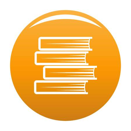 Book student icon. Simple illustration of book student vector icon for any design orange