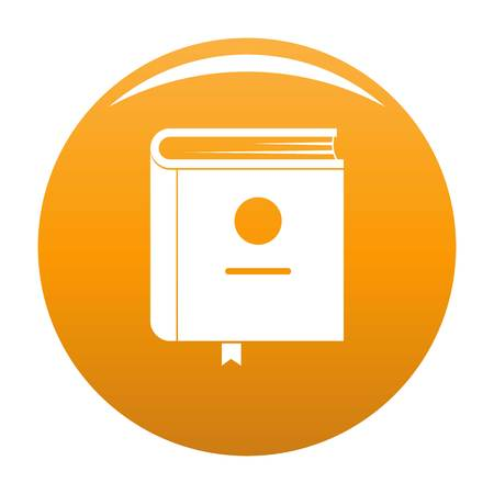 Book encyclopedia icon. Simple illustration of book encyclopedia vector icon for any design orange