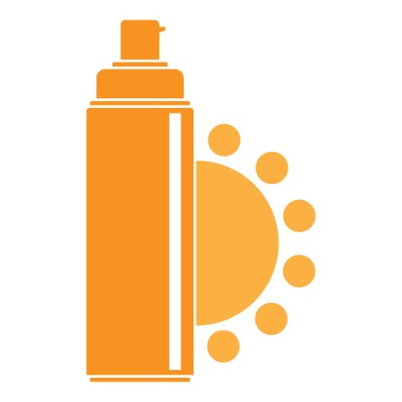 Uv spray logo. Flat illustration of uv spray vector logo for web design Illusztráció