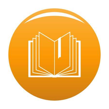 Book bookmark icon. Simple illustration of book bookmark vector icon for any design orange Illustration