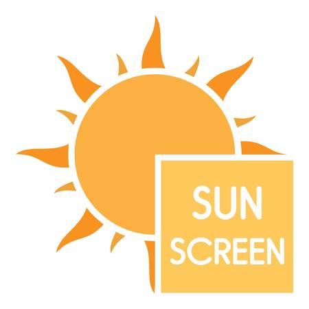 Uv sun screen logo. Flat illustration of uv sun screen vector logo for web design Illustration
