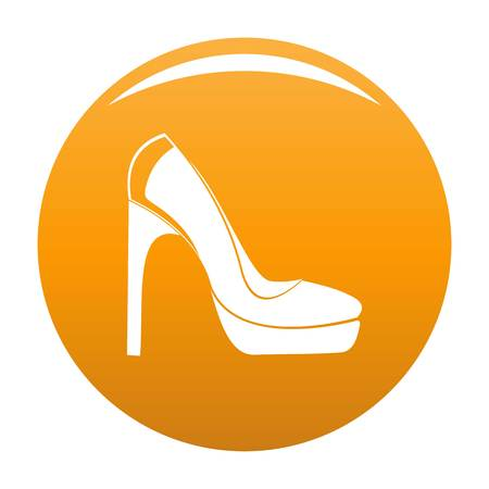 Woman shoes icon. Simple illustration of woman shoes vector icon isolated on white background
