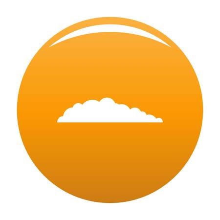 Meteorology icon. Simple illustration of meteorology vector icon for any design orange