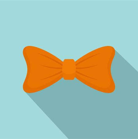 Fashion bow tie icon. Flat illustration of fashion bow tie vector icon for web design