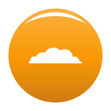 Climate icon. Simple illustration of climate vector icon for any design orange Illustration