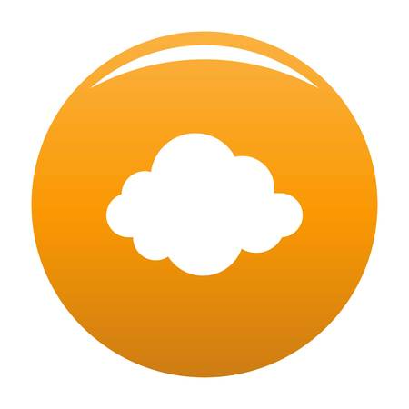 Autumn cloud icon. Simple illustration of autumn cloud vector icon for any design orange Illustration