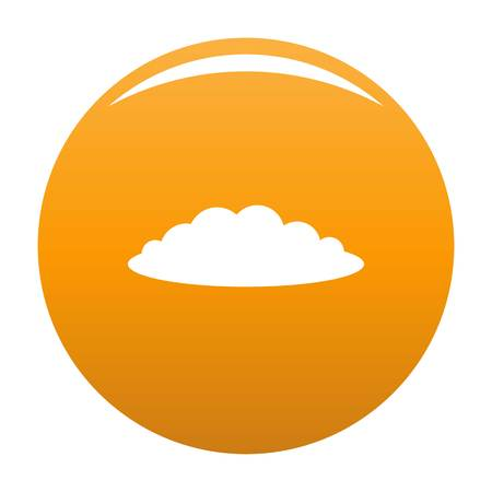 Cloud icon. Simple illustration of cloud vector icon for any design orange