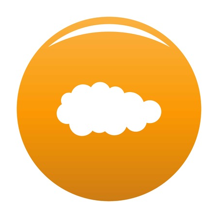Summer cloud icon. Simple illustration of summer cloud vector icon for any design orange