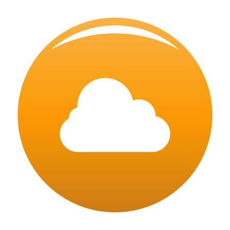 Stratus icon. Simple illustration of stratus vector icon for any design orange