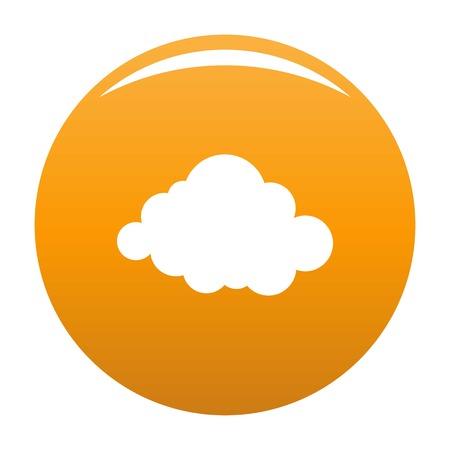 Deformed cloud icon. Simple illustration of deformed cloud vector icon for any design orange