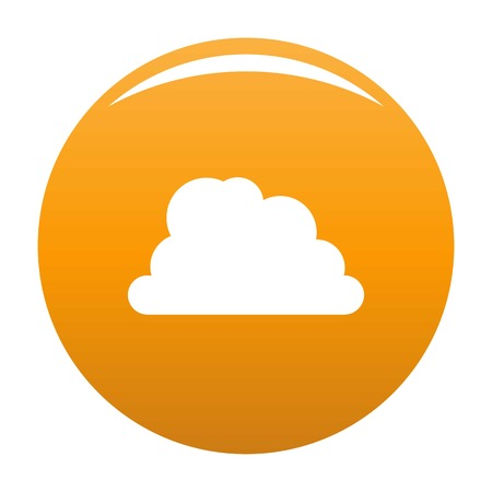 Mountainous cloud icon. Simple illustration of mountainous cloud vector icon for any design orange