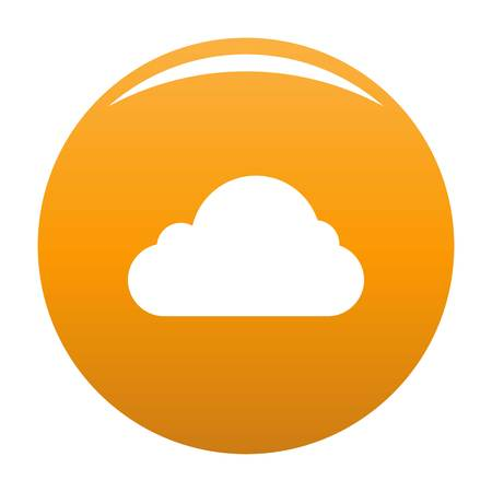 Little cloud icon. Simple illustration of little cloud vector icon for any design orange Illustration
