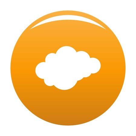 Cloud with downfall icon. Simple illustration of cloud with downfall vector icon for any design orange