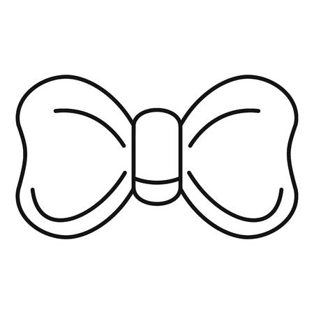 New bow tie icon. Outline new bow tie vector icon for web design isolated on white background