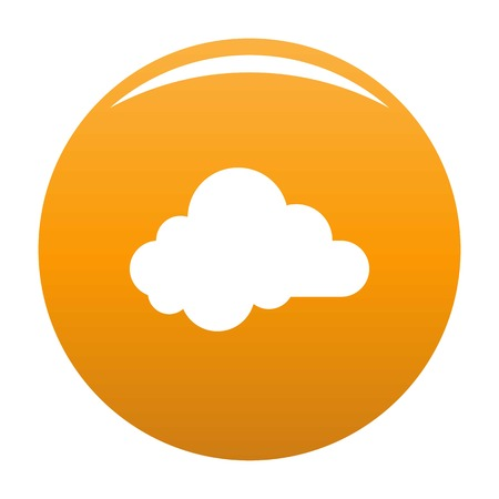 Small cloud icon. Simple illustration of small cloud vector icon for any design orange Illustration