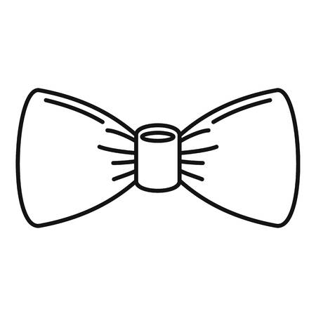 Oldfashion bow tie icon. Outline oldfashion bow tie vector icon for web design isolated on white background Illustration