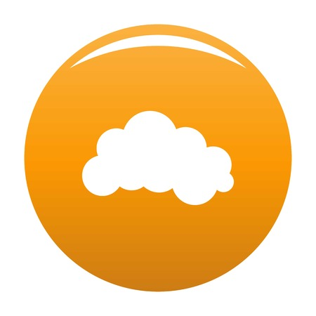 Night cloud icon. Simple illustration of night cloud vector icon for any design orange