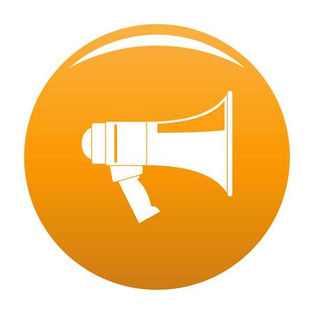 Megaphone icon. Simple illustration of megaphone vector icon for any design orange