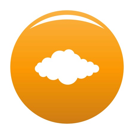 Upper cloud icon. Simple illustration of upper cloud vector icon for any design orange Illustration