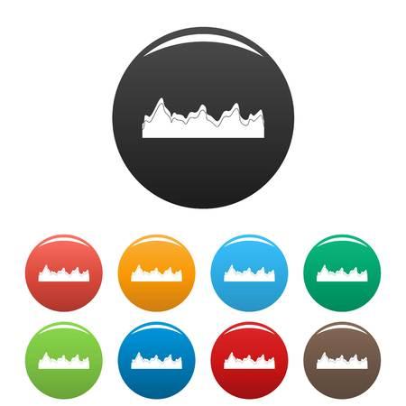 Icono de radio de canción de ecualizador. Ilustración simple de iconos vectoriales de radio de canción de ecualizador en color aislado en blanco