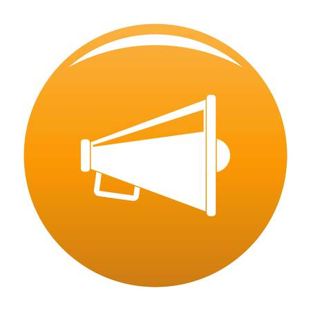 Speaker icon. Simple illustration of speaker vector icon for any design orange
