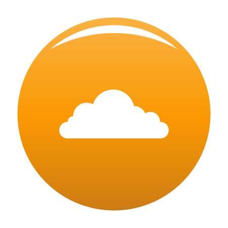 Cumulonimbus cloud icon. Simple illustration of cumulonimbus cloud vector icon for any design orange