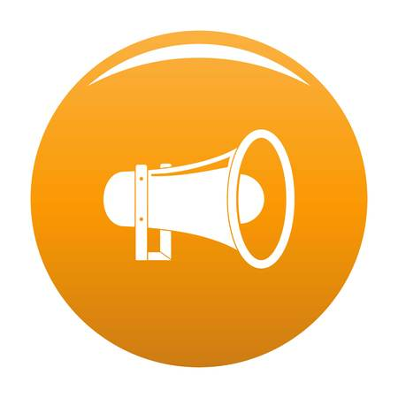 Sound of megaphone icon. Simple illustration of sound of megaphone vector icon for any design orange