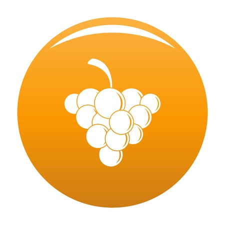 Mellow grape icon. Simple illustration of mellow grape vector icon for any design orange