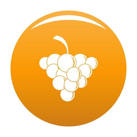Mellow grape icon. Simple illustration of mellow grape vector icon for any design orange