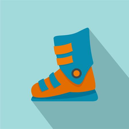 Ski boots icon. Flat illustration of ski boots vector icon for web design