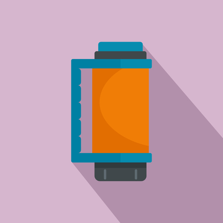 Thermos bottle icon. Flat illustration of thermos bottle vector icon for web design