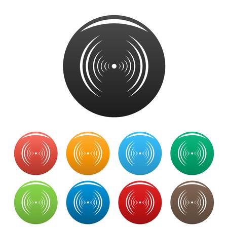 Equalizer abstract icon. Simple illustration of equalizer abstract vector icons set color isolated on white