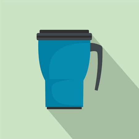 Thermo cup icon. Flat illustration of thermo cup vector icon for web design Illusztráció