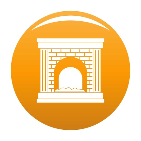 Fireplace for fire icon. Simple illustration of fireplace for fire vector icon for any design orange Illustration