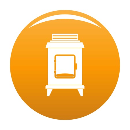 Old oven icon. Simple illustration of old oven vector icon for any design orange